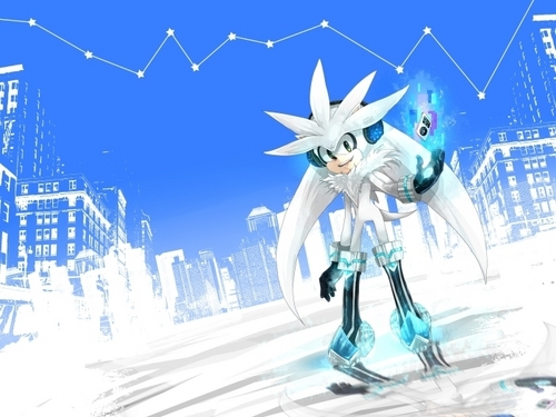 Silver the Hedgehog wallpaper possibly containing a ski resort entitled .:Silver:.