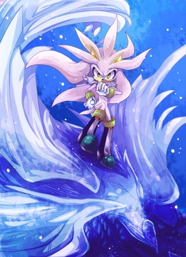 Silver the Hedgehog wallpaper probably with anime titled .:Silver:.