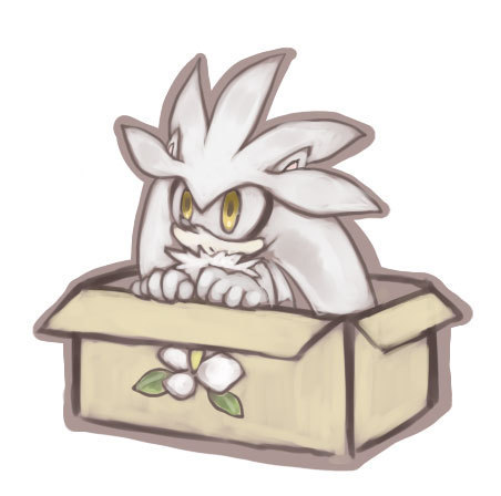 Silver the Hedgehog wallpaper possibly containing a frosted layer cake titled .:Silver:.