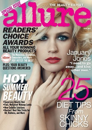January Jones wallpaper possibly containing a portrait called Allure Magazine [June 2011]