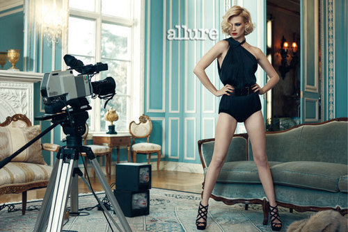 January Jones wallpaper possibly with a leotard entitled Allure Magazine [June 2011]