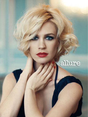 January Jones wallpaper possibly containing a portrait and skin called Allure Magazine [June 2011]