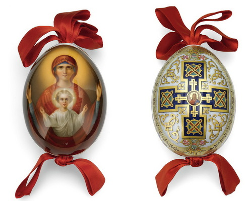 Antique porcelana Russian Easter Eggs