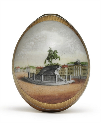 Antique Russian porcelana Easter Eggs