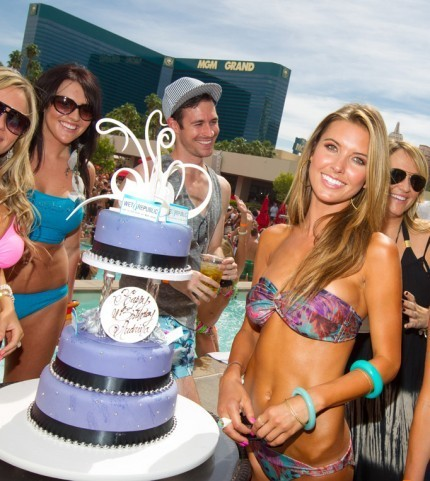 Celebrates her birthday at the Wet Republic pool at the MGM Grand in Las Vegas | May 13, 2011. - audrina-patridge Photo