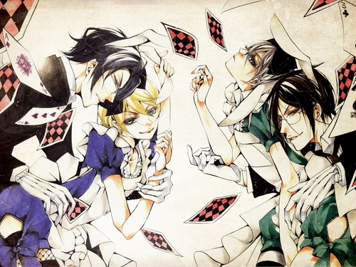 Kuroshitsuji kertas dinding with Anime called Claude-Alois & Ciel-Sebastian