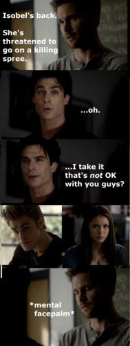 Damon doesn't take things seriously, as per usual, in Season 1 Episode 21
