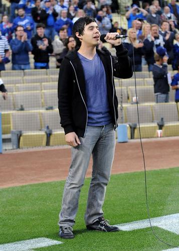David at Dodgers game :)