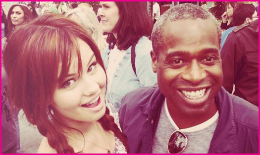 Debby Ryan and Phill Lewis