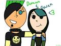 Duncan and Gwen<3 - total-drama-island fan art
