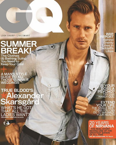 Alexander Skarsgård wallpaper possibly with a sign called GQ Cover June '11