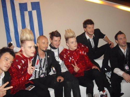 Greek Team And Jedward!