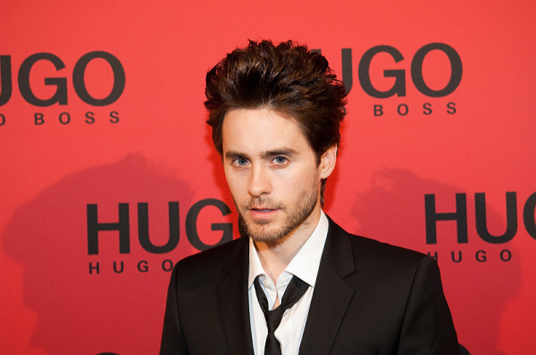 Jared Leto and girlfriend Katharina Damm got into a bit of a tiff at the Darby Thursday night.