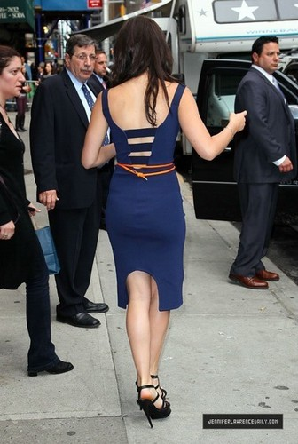 Jennifer Lawrence Leaving David Letterman Show (May 19, 2011)