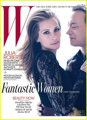 Julia Roberts & Tom Hanks Cover 'W' June 2011