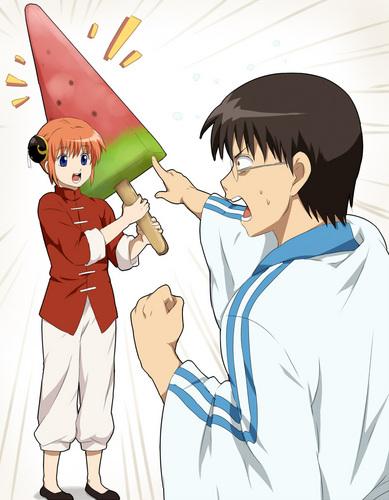 Kagura and Shinpachi