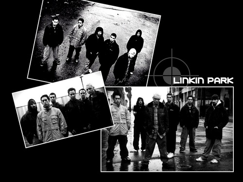 linkin park wallpaper probably with a sign, a street, and animê titled LP