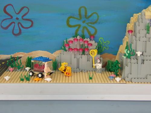 Lego SpongeBob Squarepants fondo de pantalla titled Lego Sponge City