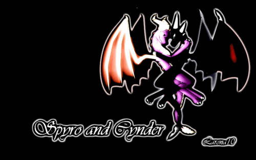 Light Spyro and Dark Cynder