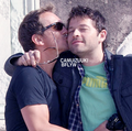 Misha get a kiss from Sebastian
