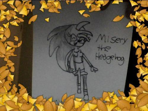 My drawing of Misery The Hedgehog