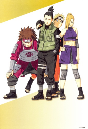 Naruto with Team 10