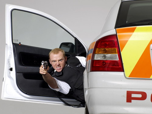Hot Fuzz wallpaper containing an automobile entitled Nicholas