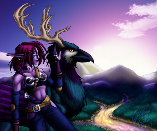 Night Elves wallpaper probably with anime called Night Elf