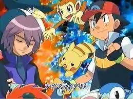 Pokemon Guys wallpaper with anime titled Paul and Ash