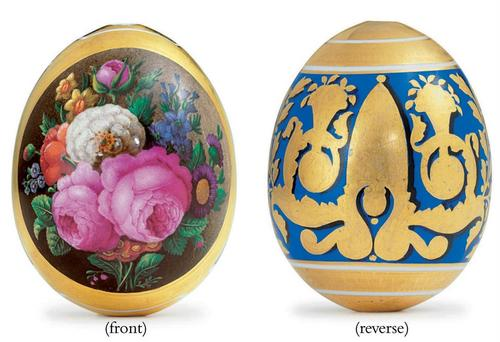 Precious Russian porcelana Easter Eggs
