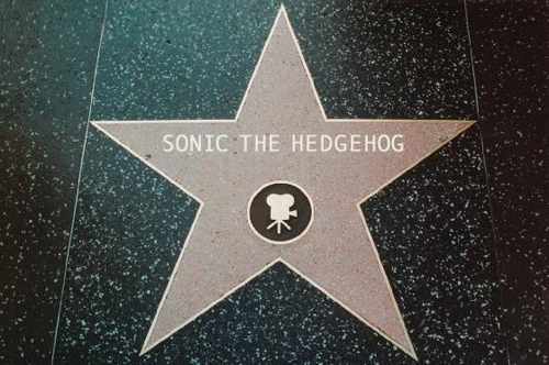 Sonic The Hedgehog's Hollywood Walk Of Fame étoile, star