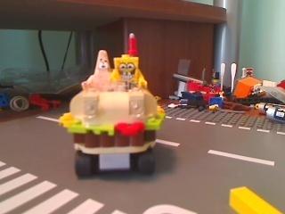 SpongeBob On The Car