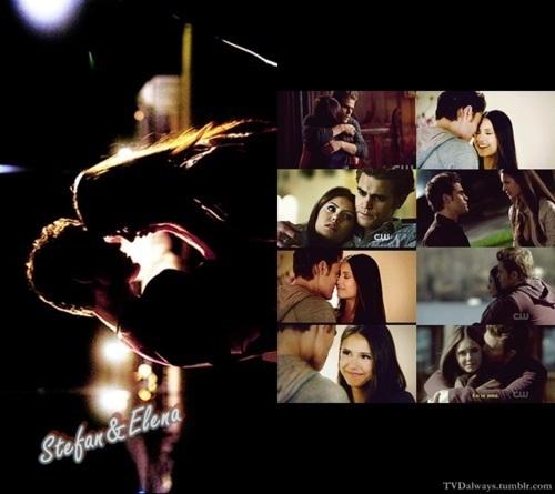 Stefan & Elena fondo de pantalla possibly with anime titled Stelena