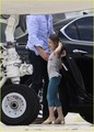 Suri Cruise: Private Plane with Mom and Dad! - suri-cruise photo