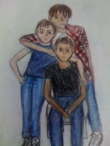 I ragazzi della 56ª strada wallpaper containing Anime entitled The Curtis Brothers - Drawing