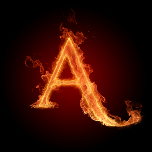 The Letter A achtergrond called The letter A