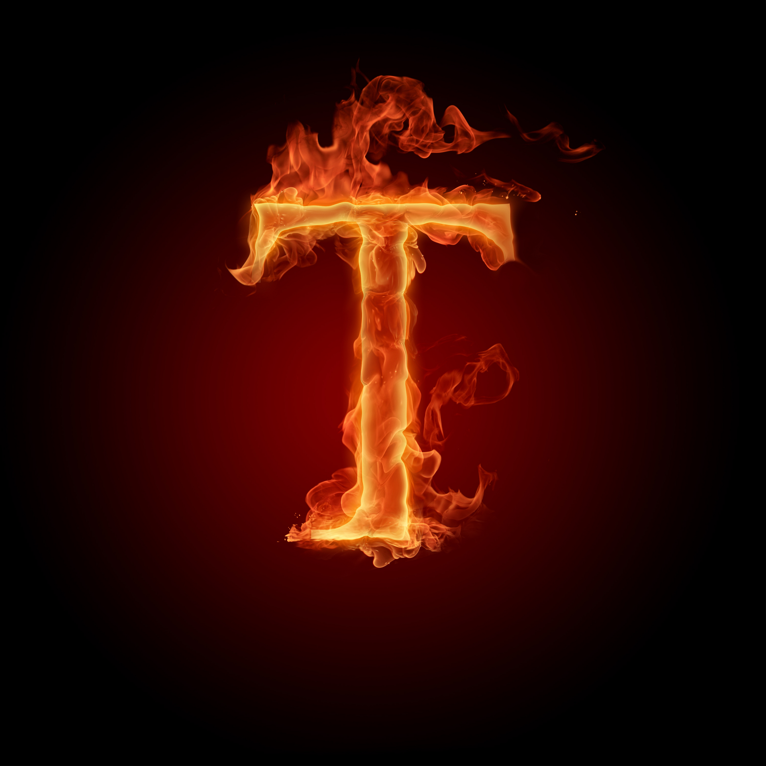 H Letter In Fire Hd The Letter T images Th...