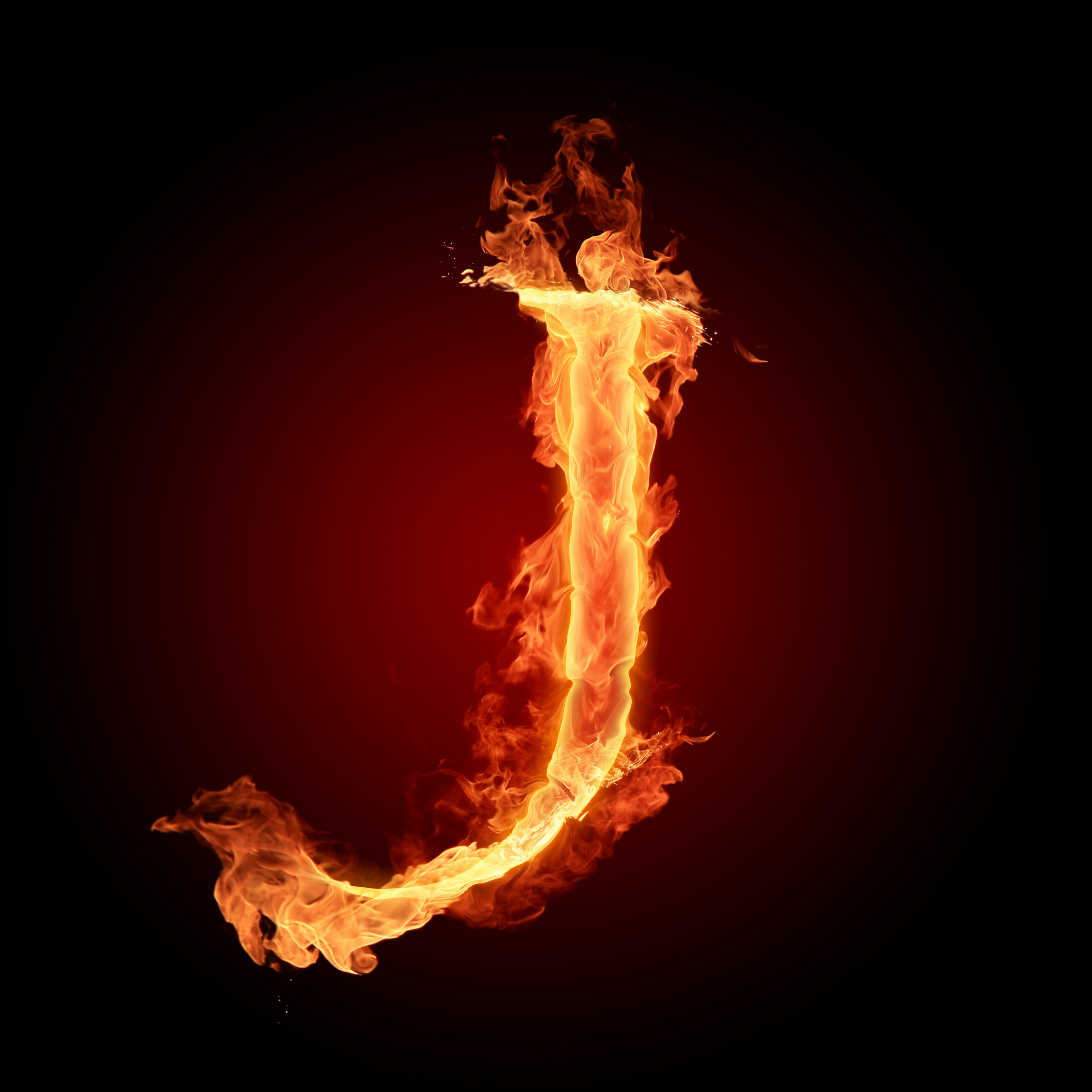 The Alphabet ima...K Logo In Fire