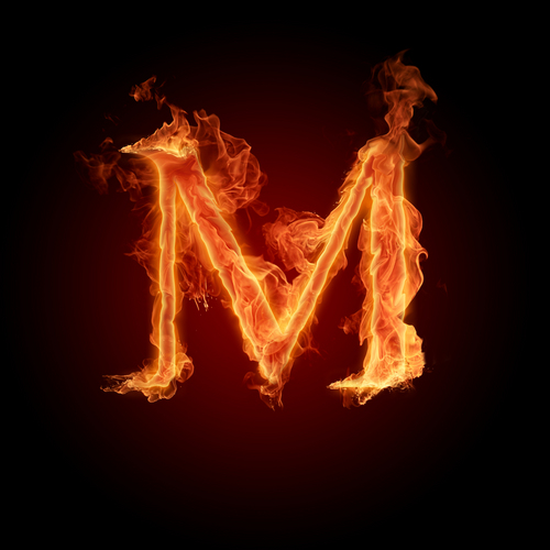 The letter M