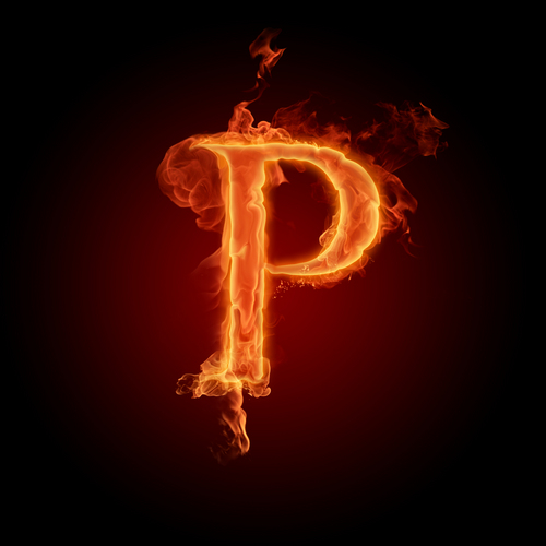 The Alphabet wallpaper possibly with a fire entitled The letter P