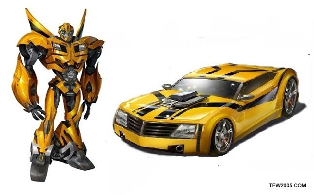 Transformer prime bumblebee car