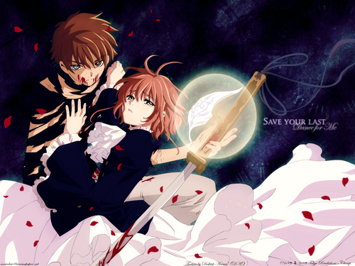 Tsubasa: Reservoir Chronicles wallpaper probably with a spatula called Tsubasa: Reservoir Chronicles Sakura and Syaoran
