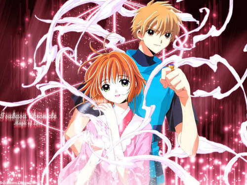 Tsubasa: Reservoir Chronicles karatasi la kupamba ukuta possibly with anime entitled Tsubasa: Reservoir Chronicles Sakura and Syaoran