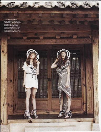 K-pop Обои probably containing a улица, уличный called Uee and Nana for vogue