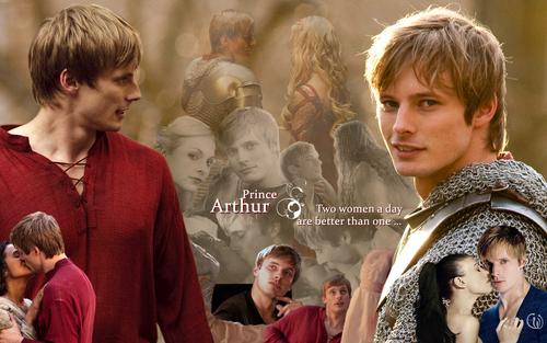 Bradley James wallpaper entitled Womanizer Prince Arthur