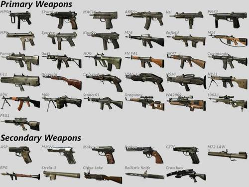 all weapons for black ops