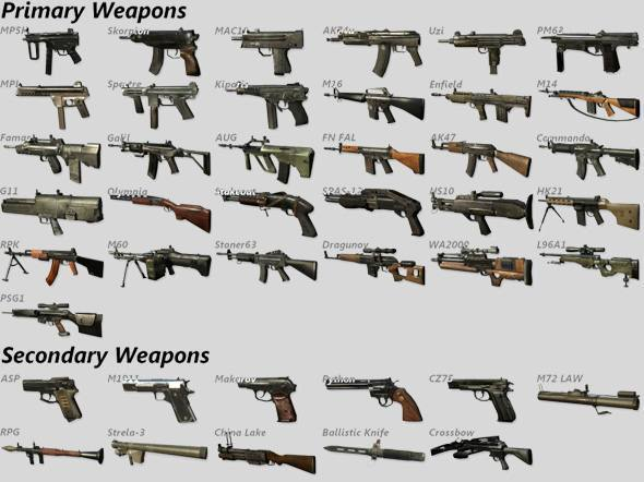 Call of duty black ops all weapons for black ops