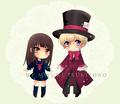 cute haruhi and tamaki chibi