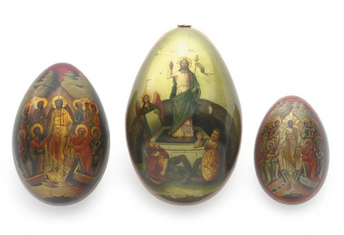 russian paper easter egg