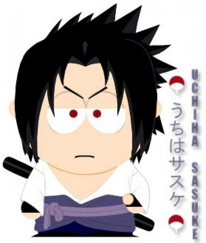 Sasuke Uchiha wallpaper entitled sasuke south park style